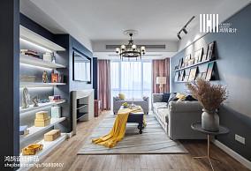 2018精选92平方三居客厅美式欣赏图片大全101-120m²三居美式经典家装装修案例效果图