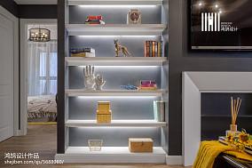 2018大小90平美式三居客厅装修效果图片欣赏