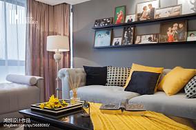 热门面积98平美式三居客厅效果图片大全