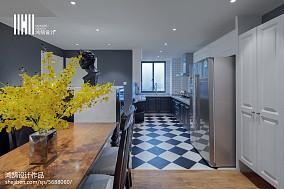 优美121平美式三居厨房实景图101-120m²三居美式经典家装装修案例效果图