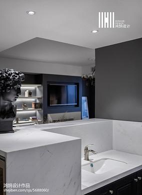 2018面积97平美式三居厨房欣赏图片101-120m²三居美式经典家装装修案例效果图