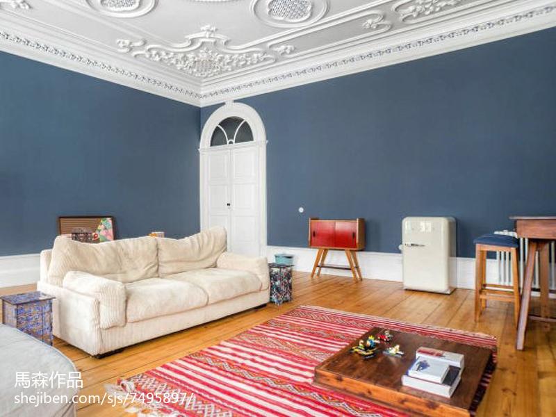 热门面积107平简欧三居客厅装修图片大全设计图片赏析
