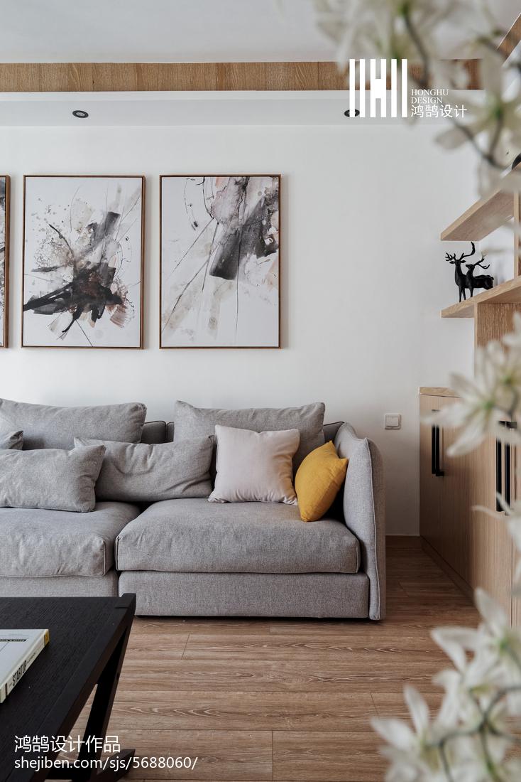 精美三居客厅北欧装修图片大全客厅北欧极简客厅设计图片赏析