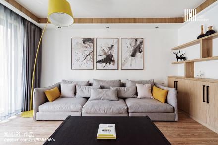热门102平方三居客厅北欧欣赏图片三居北欧极简家装装修案例效果图