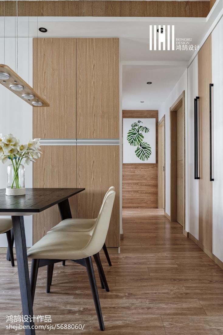 精美大小107平北欧三居餐厅设计效果图厨房北欧极简餐厅设计图片赏析