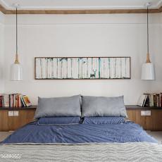 精美95平米三居卧室北欧实景图