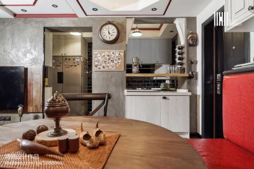 精选77平方二居餐厅混搭实景图片厨房
