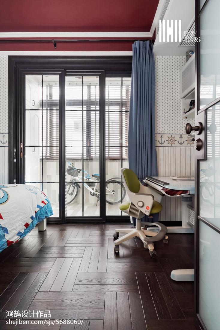 精美大小82平混搭二居卧室装修欣赏图卧室木地板潮流混搭卧室设计图片赏析