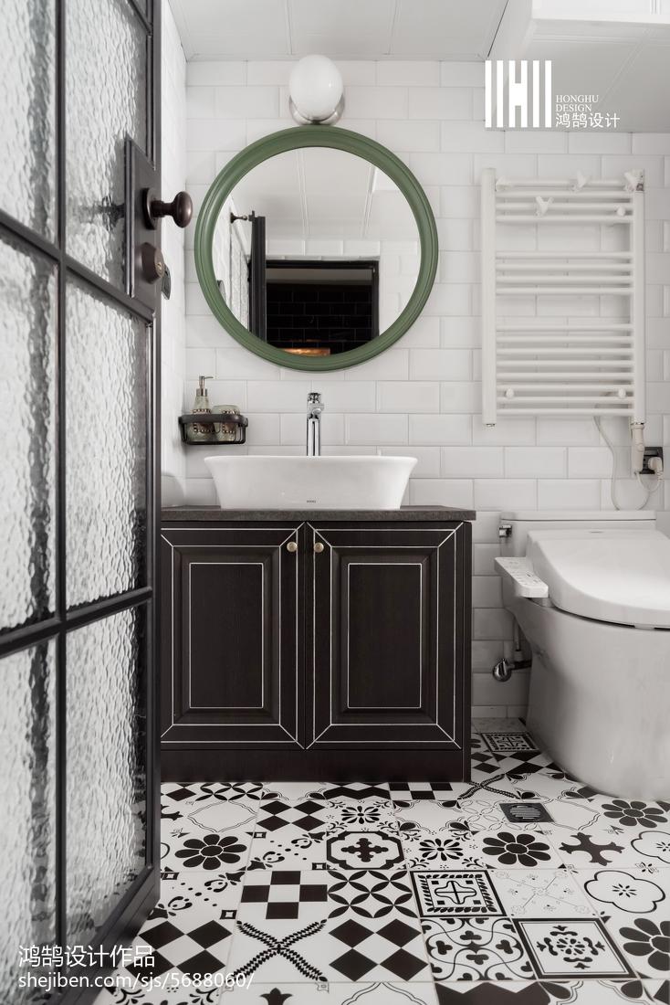 质朴83平混搭二居设计图卫生间潮流混搭卫生间设计图片赏析