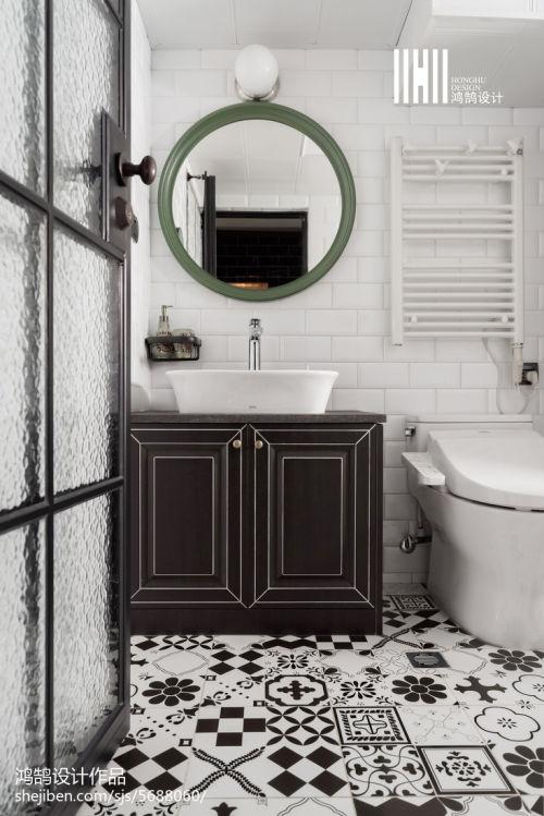 质朴83平混搭二居设计图卫生间洗漱台