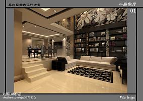 精美面积135平别墅客厅现代装修效果图片