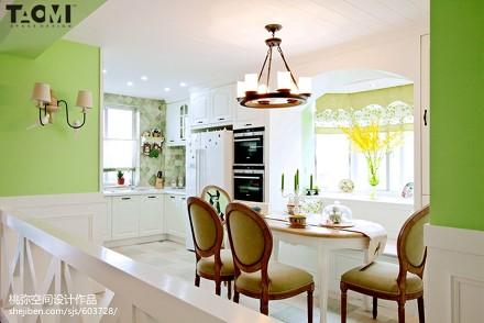 精美面积138平美式四居餐厅装修效果图片大全厨房1图