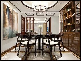 热门76平米二居餐厅中式装修欣赏图片