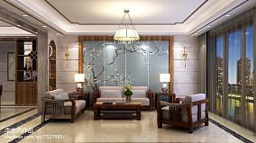 2018精选面积144平中式四居客厅装修实景图