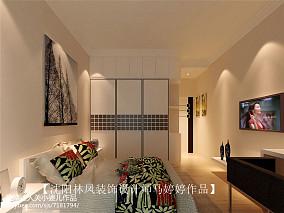 格美现代简约风格电视墙效果图