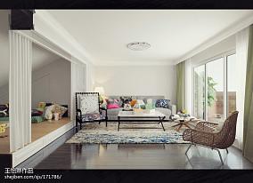 温馨48平美式复式休闲区效果图欣赏功能区1图美式经典设计图片赏析