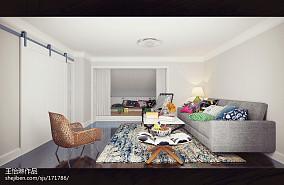 温馨76平美式复式休闲区装潢图功能区2图美式经典设计图片赏析