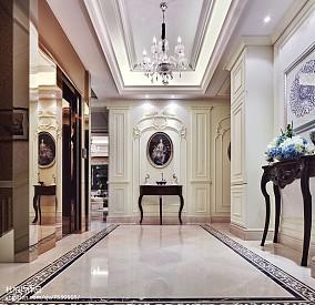 过道欧式效果图片样板间欧式豪华家装装修案例效果图