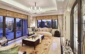 热门客厅欧式装修效果图片样板间欧式豪华家装装修案例效果图
