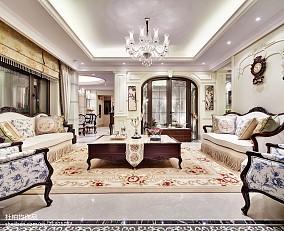 精选客厅欧式欣赏图样板间欧式豪华家装装修案例效果图