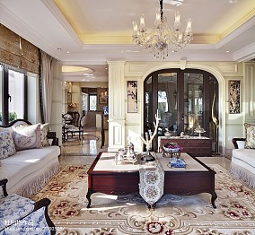 2018客厅欧式装修欣赏图片大全样板间欧式豪华家装装修案例效果图