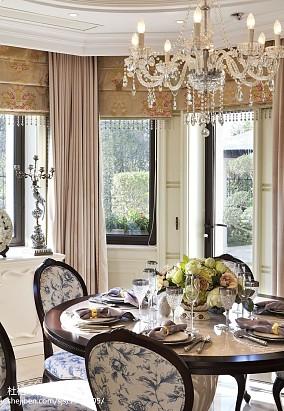 温馨343平欧式样板间餐厅实景图片样板间欧式豪华家装装修案例效果图