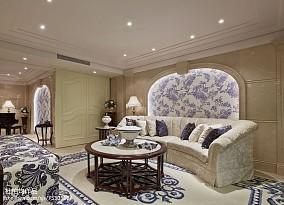 休闲区欧式装修实景图片欣赏样板间欧式豪华家装装修案例效果图