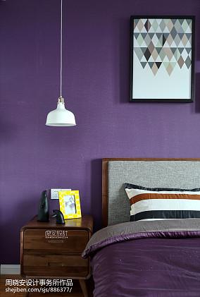 精美127平北欧三居卧室效果图卧室2图北欧极简设计图片赏析