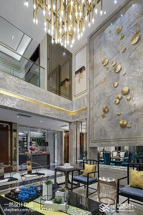 平方中式别墅客厅装饰图别墅豪宅中式现代家装装修案例效果图