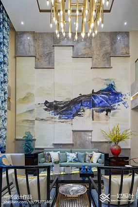 明亮501平中式别墅效果图欣赏别墅豪宅中式现代家装装修案例效果图