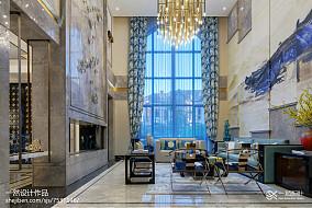 2018面积113平别墅客厅中式实景图片欣赏别墅豪宅中式现代家装装修案例效果图