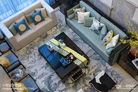 2018精选139平米中式别墅客厅装修欣赏图片别墅豪宅中式现代家装装修案例效果图