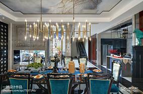 热门136平方中式别墅餐厅实景图片别墅豪宅中式现代家装装修案例效果图