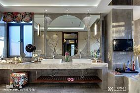简洁542平中式别墅卫生间设计美图别墅豪宅中式现代家装装修案例效果图