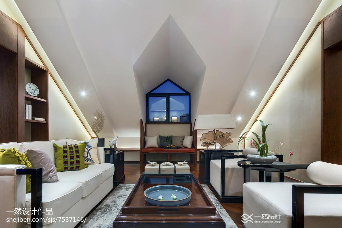 中式风格家居阁楼效果图客厅中式现代客厅设计图片赏析