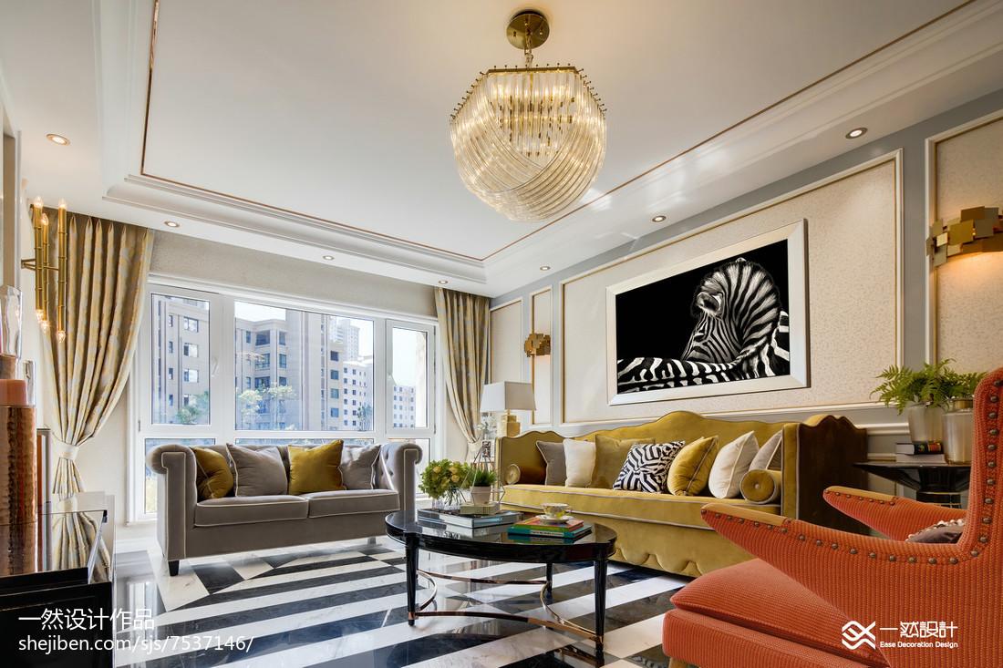 热门大小82平混搭二居客厅装修欣赏图片大全客厅