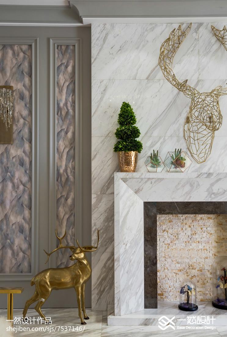 110平客厅简欧装修客厅北欧极简客厅设计图片赏析