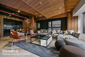 2018精选面积108平中式三居客厅欣赏图片大全三居中式现代家装装修案例效果图