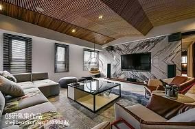 精选96平方三居客厅中式装修效果图片大全三居中式现代家装装修案例效果图