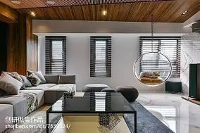 精选100平方三居客厅中式效果图片大全三居中式现代家装装修案例效果图