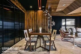 精美100平米三居餐厅中式实景图片欣赏三居中式现代家装装修案例效果图