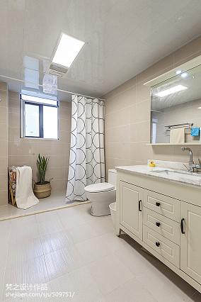 精美127平米四居卫生间混搭装修欣赏图片大全卫生间潮流混搭设计图片赏析