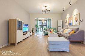 热门面积113平混搭四居客厅装修效果图客厅1图潮流混搭设计图片赏析