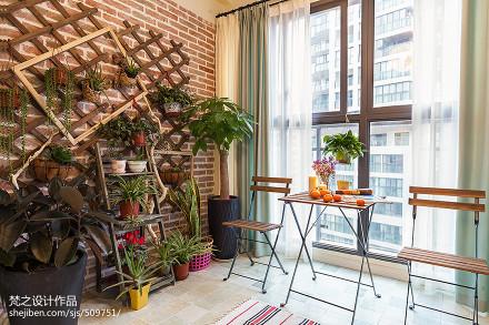热门122平米四居阳台混搭欣赏图阳台
