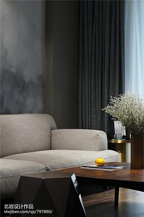悠雅56平简约复式客厅装修美图