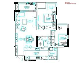 北欧风格室内设计两室两厅图片欣赏大全