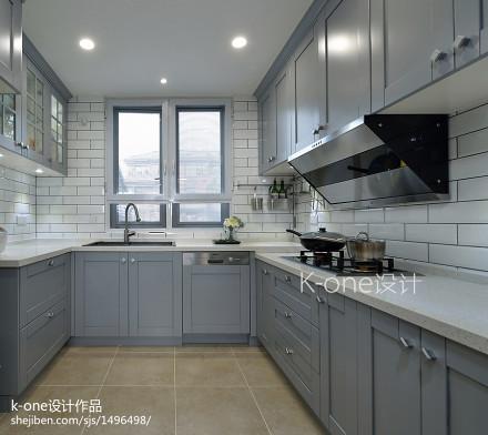精美面积117平别墅厨房美式装修设计效果图餐厅