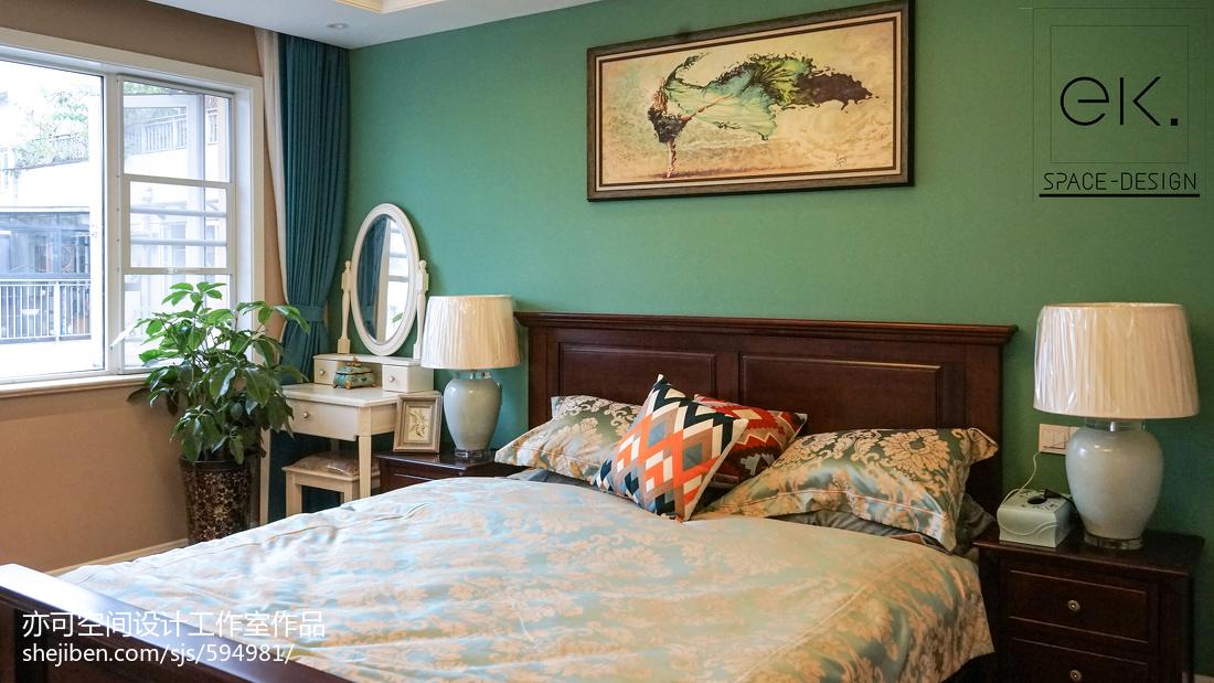 成都万科魅力之城220跃层卧室1图美式经典卧室设计图片赏析