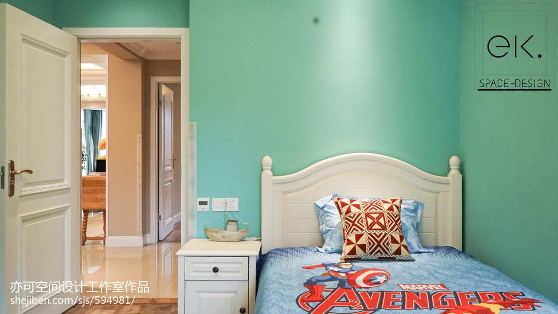 成都万科魅力之城220跃层卧室美式经典卧室设计图片赏析
