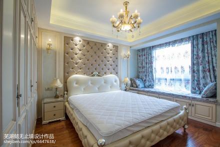悠雅99平欧式三居设计案例卧室